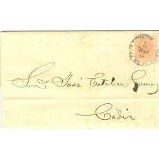 Lettre Authentique Espagnole du 19ème siècle