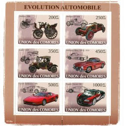 Bloc feuillet Automobile - Evolution automobile 2008