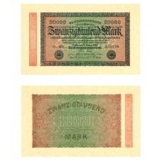P.85 Allemagne - Billet de 20 000 Mark
