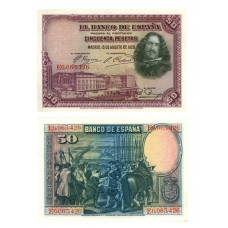 Espagne - Billet de 50 Pesetas PK75