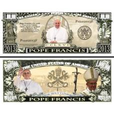 Billet commémoratif  Pape François