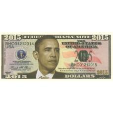 Billet commémoratif Barack OBAMA