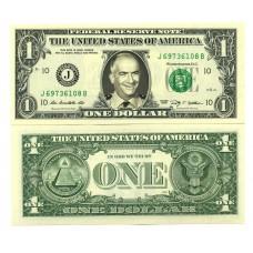 Billet de 1 dollar - Louis DE FUNES