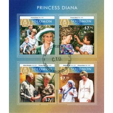 Bloc feuillet Lady Diana - Iles Salomon 2015
