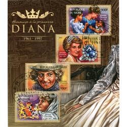 Bloc feuillet Lady Diana - République du Niger 2015