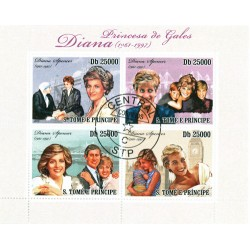 Bloc feuillet Lady Diana - Saint Tomé et Principauté 2010