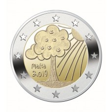 Malte 2019 - 2 euro commémorative Nature