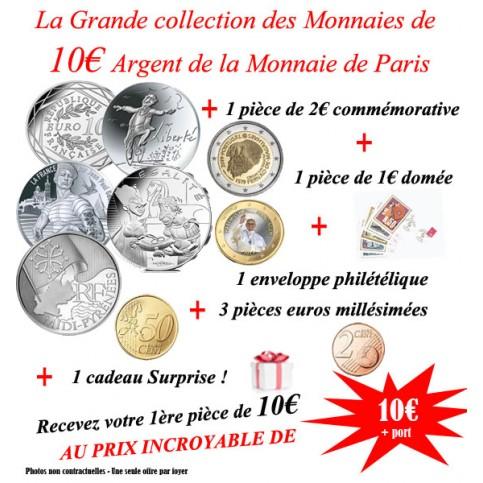 Collection des Monnaies de 10 euro Argent