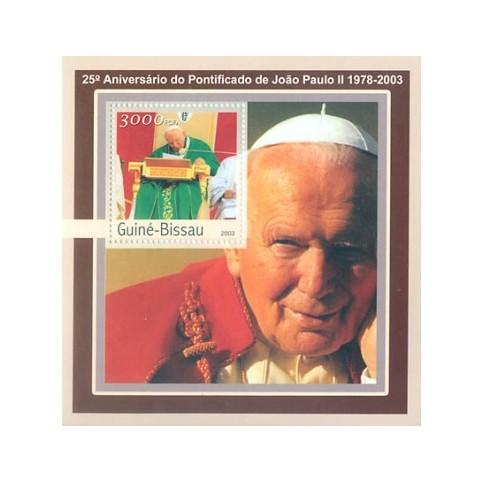 Bloc Feuillet Papes et Vatican - Guinée Bissau 2003
