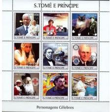 Bloc Feuillet Papes et Vatican - Saint Tomé et Principauté 2003