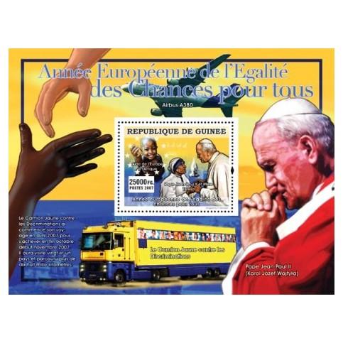 Bloc Feuillet Papes et Vatican - République de Guinée 2007