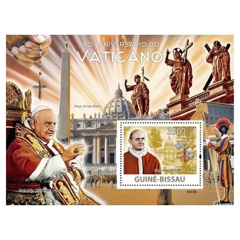 Bloc Feuillet Papes et Vatican -Guinée Bissau 2009