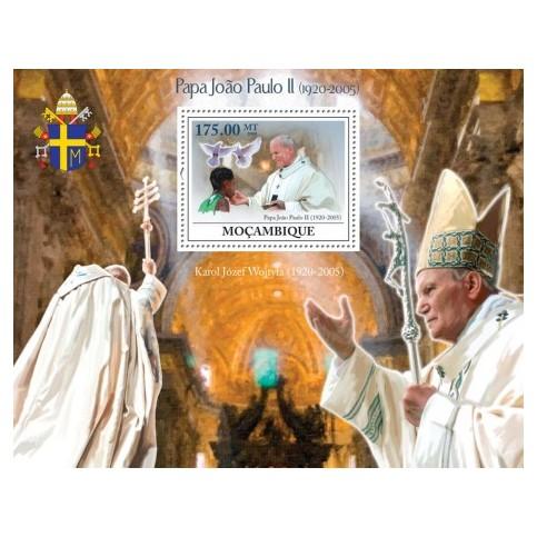 Bloc Feuillet Papes et Vatican - Mozambique 2009