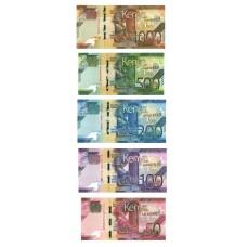 Kenya - série 5 Billets