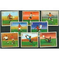 série timbres football Guinée Equatoriale