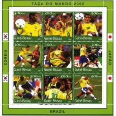 Bloc feuillet Football Guinée Bissau 2001