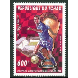 Timbre Football Tchad 1996 - France 98