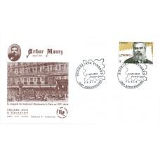 Arthur Maury timbre + 2 enveloppes 1er jour