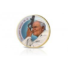Jean Paul II - 2 euros Dorée à l'or fin 24 carats