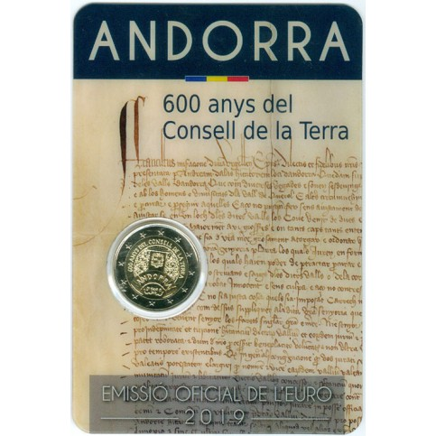 Andorre 2019 - 2 euro commémorative 600 ans