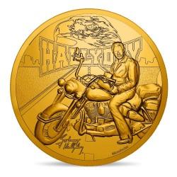 Johnny Hallyday - Médaille moto