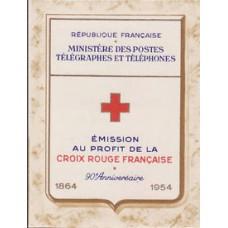 carnet croix rouge 1954