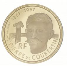500 Francs OR Pierre de Coubertin - JO d'Albertville
