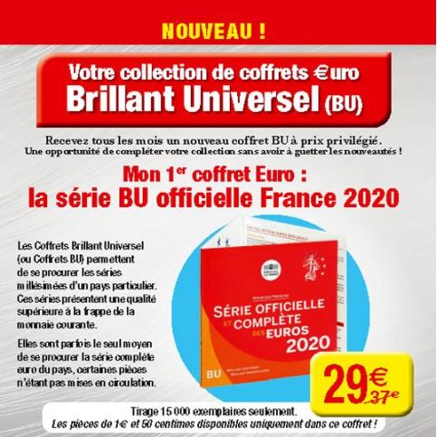 France 2020 - Coffret euro BU de la collection des Coffrets Brillant Universel