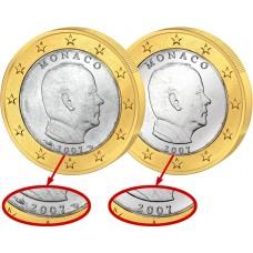 """Monaco 2007 - 1 euro """"Fauté"""""""