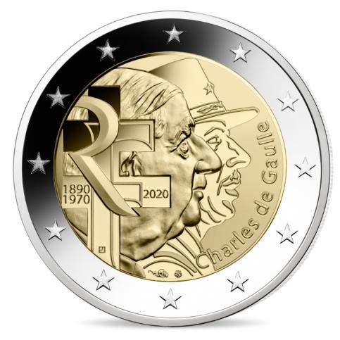 2 euro commémorative argentée à l'argent pur 999/1000