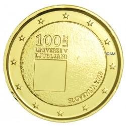 Slovénie 2019 - 2 euro commémorative Ljubljana dorée à l'or fin 24 carats