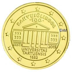 Estonie 2019 - 2 euro commémorative Suffrage dorée à l'or fin 24 carats