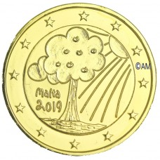 Malte 2019 - 2 euro commémorative Nature dorée à l'or fin 24 carats