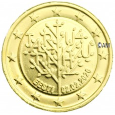 Estonie 2020 - 2 euro commémorative Tartu dorée à l'or fin 24 carats
