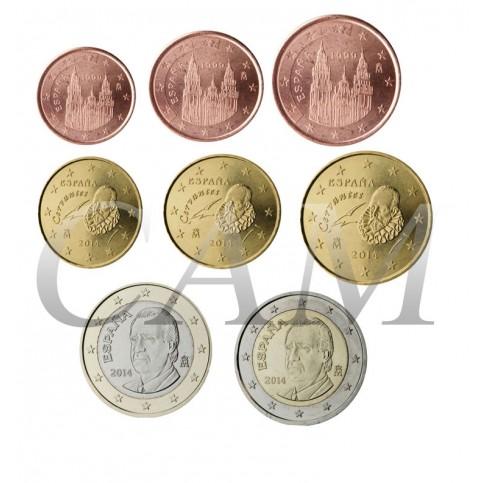 Espagne Juan Carlos - Série complète euro neuve