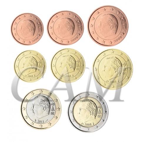 Belgique  Roi Albert II - Série complète euro neuve