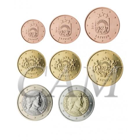 Lettonie : Série complète euro neuve
