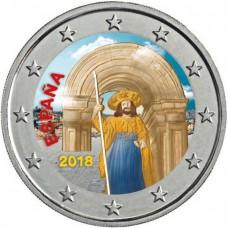 Espagne 2018 Compostelle - 2 euro commémorative en couleur