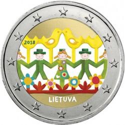 Lituanie 2018 Danse - 2 euro commémorative en couleur