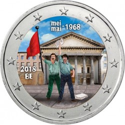 Belgique 2018 - Mai 1968 - 2 euro commémorative en couleur