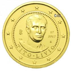Italie 2017 - 2 euro commémorative Tito Livio dorée à l'or fin 24 carats