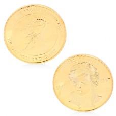 Frappe non monétaire commémorative Lady Diana dorée
