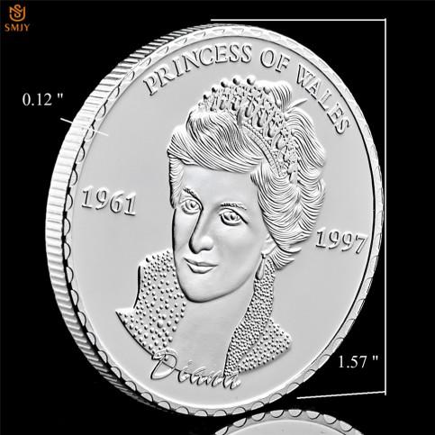 Frappe non monétaire commémorative Lady Diana argentée
