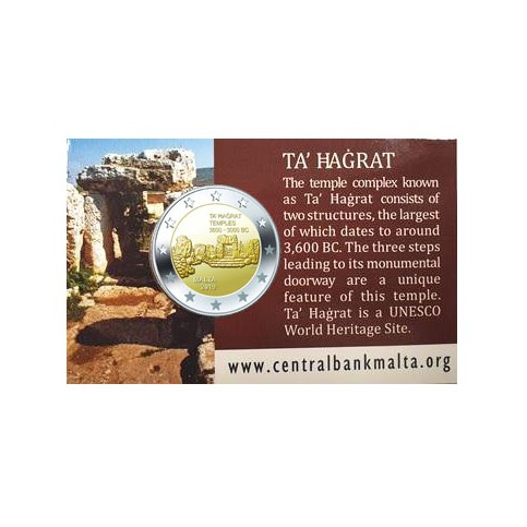 Malte 2019 - 2 euro commémorative Coincard Ta'Hagrat
