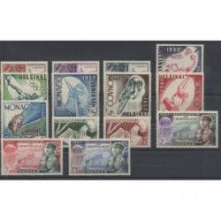 Monaco - Année complète neuve 1952-53