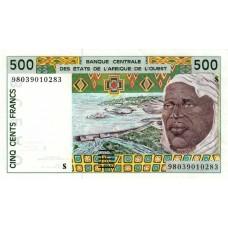 P.910 Afrique de l'Ouest Guinee Bissau - 500 Francs