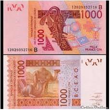 P.215 Afrique ouest Benin - 1000 Francs