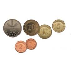 Lettonie - série 6 pièces lats avant euro