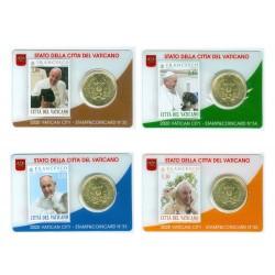 lot Vatican 2020 : Coincard 50 cts Pape François + timbre