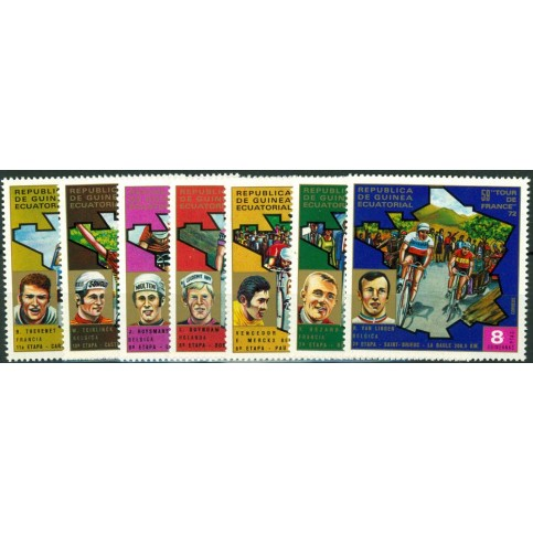 Lot timbres cyclisme